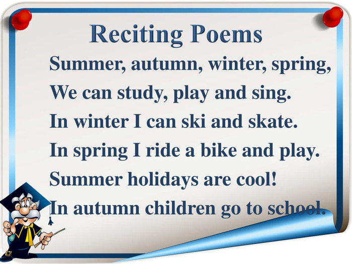 Summer, autumn, winter, spring, 