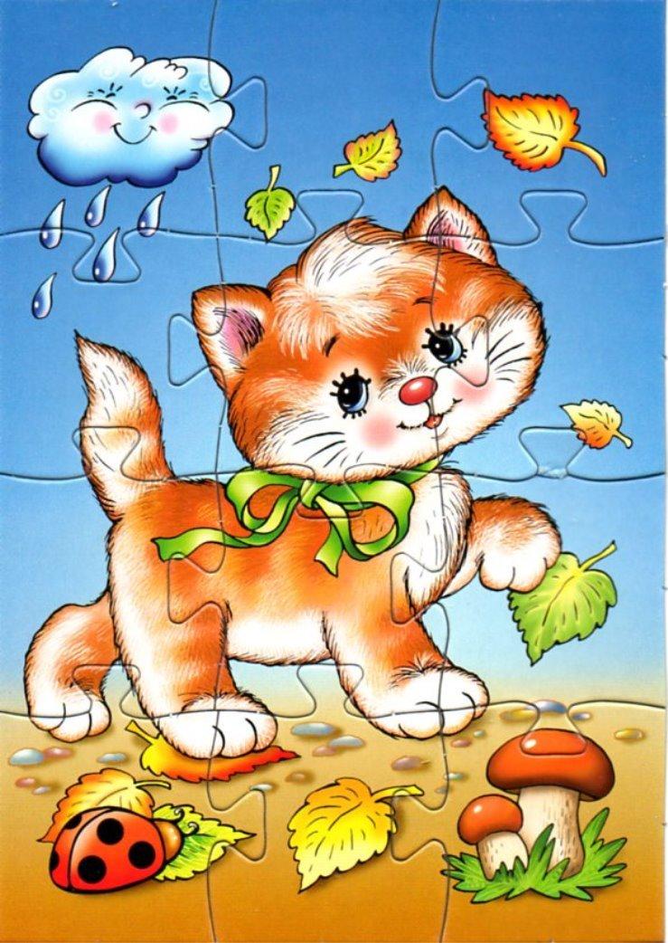 Картинки кошки для детей для занятия, стиле шебби