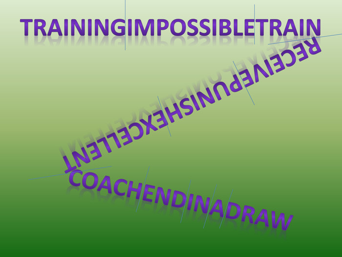 trainingimpossibletrainreceivepunishexcellentcoachendinadraw