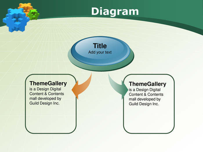 Diagram. Theme. Gallery is a Design Digital Content & Contents mall developed by Guild Design Inc. Title. Add your text. Theme. Gallery is a Design Digital Content & Contents mall developed by Guild Design Inc.
