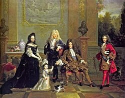 Описание: https://upload.wikimedia.org/wikipedia/commons/thumb/e/e1/Louis_XIV_of_France_and_his_family_attributed_to_Nicolas_de_Largilli%C3%A8re.jpg/250px-Louis_XIV_of_France_and_his_family_attributed_to_Nicolas_de_Largilli%C3%A8re.jpg
