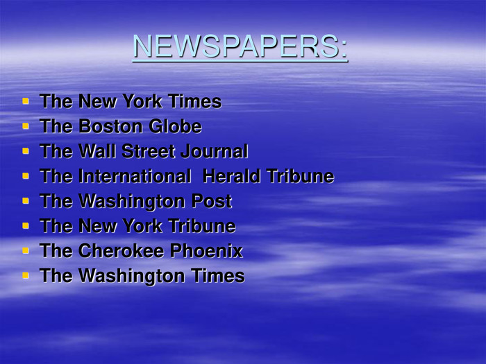 NEWSPAPERS: The New York Times