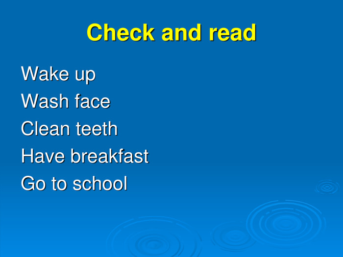 Check and read Wake up 