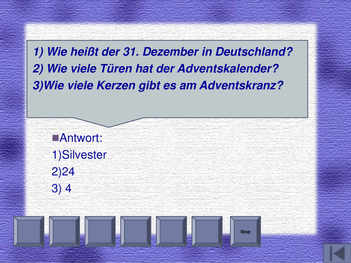 Stop  Antwort: