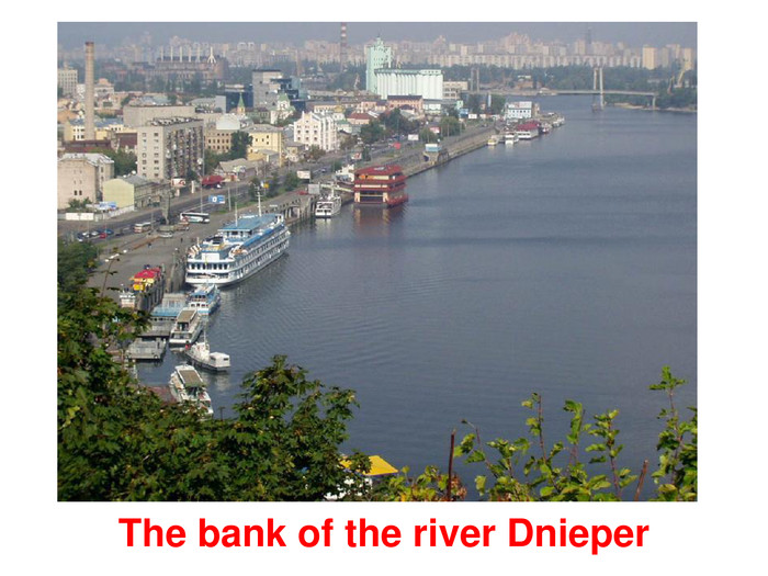 The bank of the river Dnieper