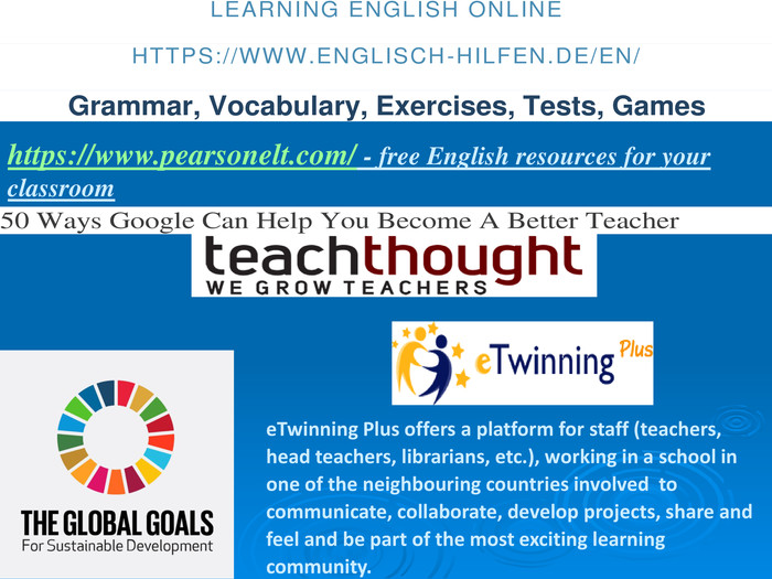 https://www.pearsonelt.com/ - free English resources for your classroom