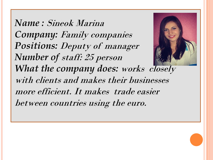 Name : Sineok Marina