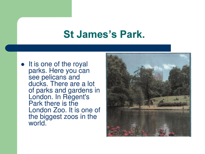 St James's Park. 