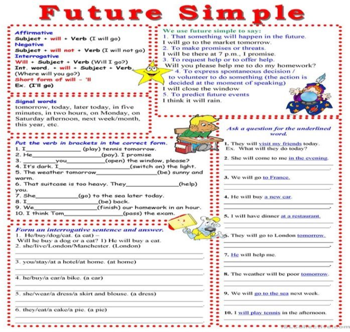Описание: Future Simple - English ESL Worksheets for distance learning and ...