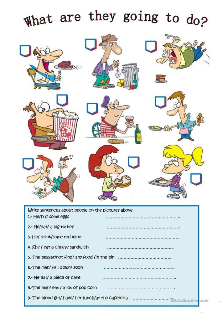 Описание: WHAT ARE THEY GOING TO DO? - English ESL Worksheets for distance ...